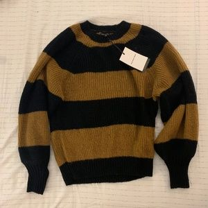 yellow and black striped sweater